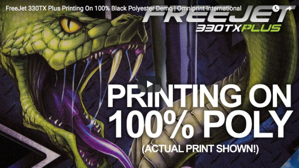 Printing on 100% Black Polyester with the FreeJet 330TX Plus