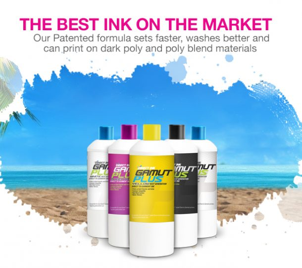 Direct Ink Gamut Plus: The Best Direct to Garment Ink on the market